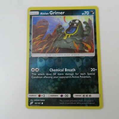 83/181 Alolan Grimer REVERSE | Pokemon Trading Card Game TCG | XY TEAM UP
