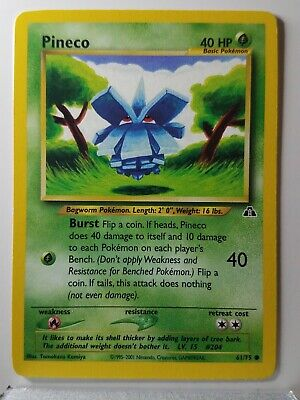 Pineco 61/75 - NM - Neo Discovery Pokemon Card - $1 Combined Shipping