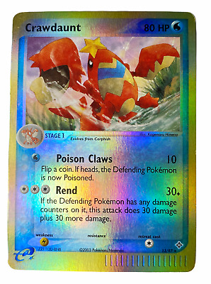 Crawdaunt 13/97 Reverse Holo/foil RARE EX Dragon Set Pokemon Card