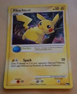 Pokemon Promo Card - Pop Series 6 - Pikachu 9/17 (holo) Rare - Nm
