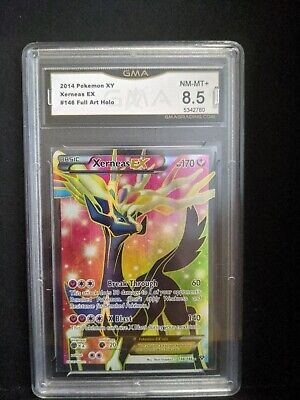 XERNEAS EX GMA 8.5 NM-MT+ 2014 Pokemon XY #146 Full Art Holo 012476