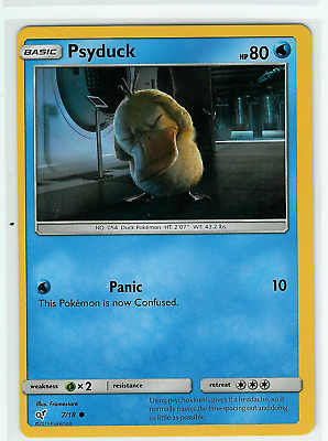 Pokemon Miscut/OC Psyduck Holo # 4/18 - Detective Pikachu - Condition: NM-LP