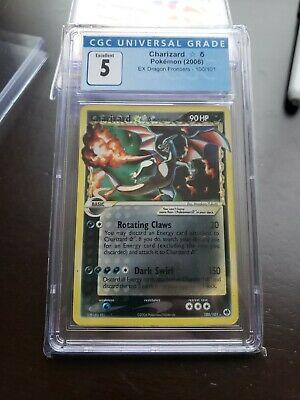 Pokemon EX Dragon Frontiers Gold Star Charizard CGC Graded 5 Excellent#100/101