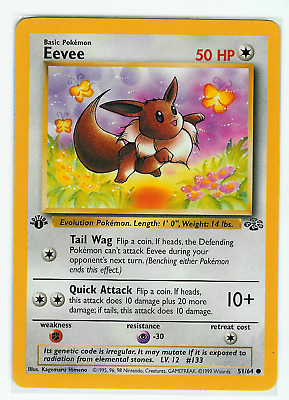 Pokemon Eevee # 51/64 - Jungle 1st Edition