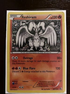 Pokemon Reshiram 28/113 - Legendary Treasures Set - Rare Holo -  NM