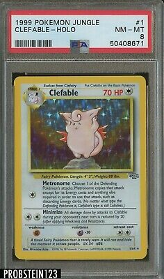 1999 Pokemon Jungle #1 Clefable - Holo PSA 8 NM-MT