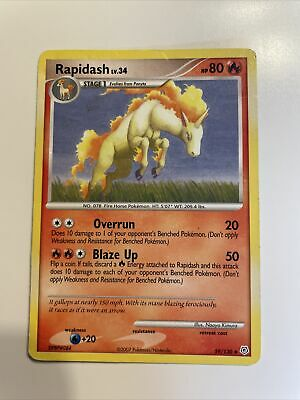 Rapidash 59/130 Non-Holo Diamond & Pearl Pokemon Card ~ LP