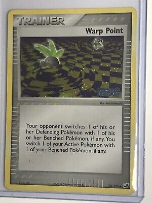 Warp Point 93/115 - Stamped Ex Unseen Forces Reverse Holo - 2005 Pokemon Card