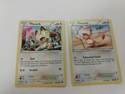 Meowth 88/114 - Common Pokemon Card - Steam Siege Set (2016) - NM And 53/83
