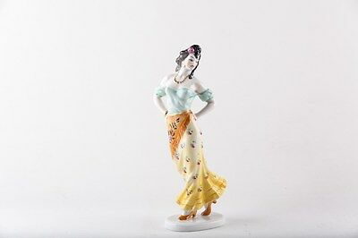 Herend Glamour Gipsy Lady In Dress Porcelain Hungary