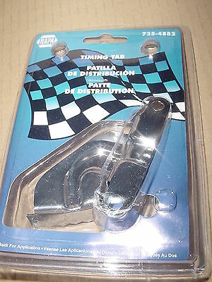 "Napa 735-4882 Chevy B/b 283-350 8"" Balancer Chrome Timing Competition Style New"