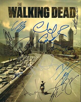 Andrew Lincoln Jeffrey Dean Morgan Signed Auto