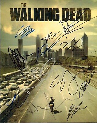 Norman Reedus Jeffrey Dean Morgan Signed Auto