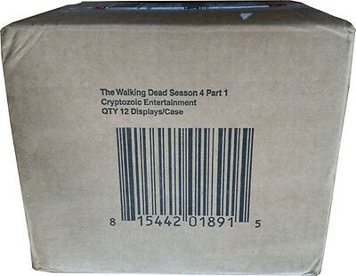 Walking Dead Season 4 Part 1 Factory Sealed Case Of 12 Trading Card Boxes