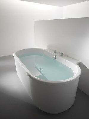 Hoesch Norman Foster Bathtub Back To Wall 1900x1020 Without Apron White 6478.010