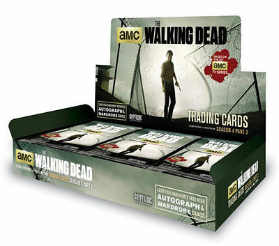 Walking Dead Cryptozoic Season 4 Part 2 Factory Sealed Hobby Case (12 Boxes)