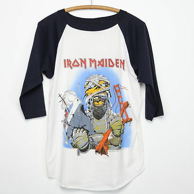 Iron Maiden Shirt Vintage Tshirt 1985 California Invasion Tour Powerslave Metal