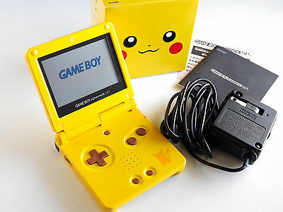 Original Nintendo Gameboy Advance Sp Pokemon Pikachu Yellow Limited Console