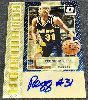 reggie miller 17 18 panini optic dominators gold vinyl superfractor auto #1/1 !