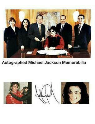 autographed michael jackson memorabilia hardcover book free shipping!