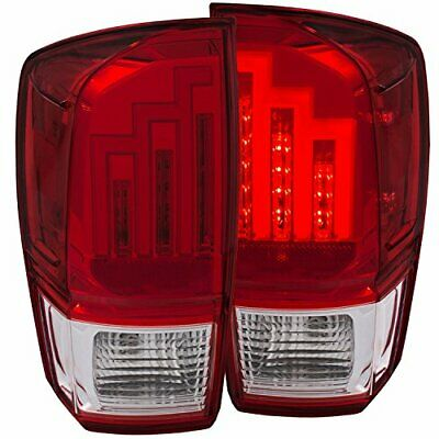 Anzo Usa 311284 Tail Light Assembly Red/clear Lens Chrome Housing Pair Tail Ligh