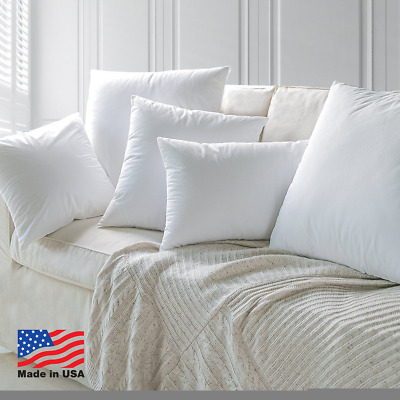 Form Insert Throw Pillow Euro Pillow Inserts Discounted Made In Usa (set Of 12)