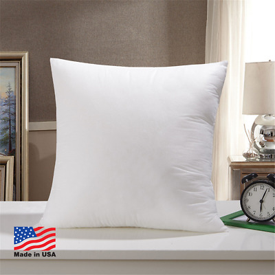 Throw Pillow Insert Form Inserts Euro Square Pillows Hypoallergenic (set Of 10)