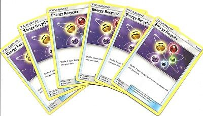 6x ENERGY RECYCLER 123/145 -GUARDIANS RISING Pokemon Card-Uncommon- NM/MINT