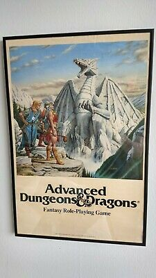 Vintage Tsr Advanced Dungeons & Dragons Poster By Larry Elmore From 1986