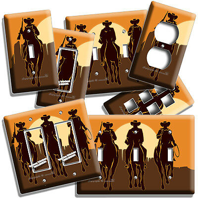 Wild West Western Cowboys Southwest Prairie Light Switch Outlet Plate Room Decor