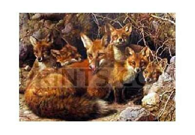 Carl Brenders Full House Fox Family Canvas Giclee