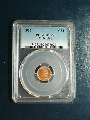 1917 $1 Gold Mckinley Pcgs Ms66 High Grade Gem $1 Coin Priced For Quick Sale!