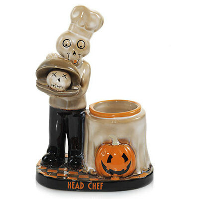 Yankee Candle 2017 Boney Bunch Head Chef Votive Candle Holder New Sold Out