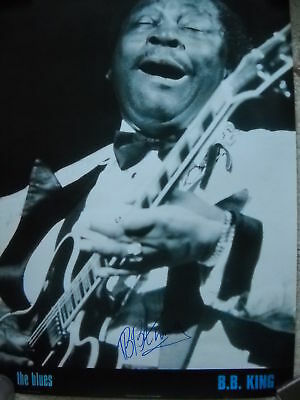 Blues/bb King Signed Poster Autographed Coa & Proof! Lucille