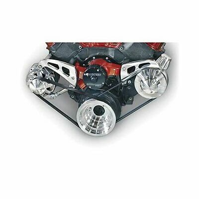 March Performance Pulley Kit Serpentine Aluminum Clear Chevy Big Block Kit 23007