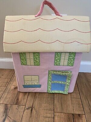 Pottery Barn Kids Pbk Cloth Fabric Dollhouse With Chairs