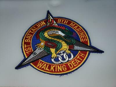 Shoulder Patch From 1st Battalion 9th Marines Walking Death  Usmc