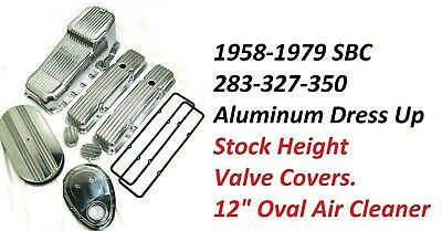 Small Block Chevy 283-350 Low Polished Finned Engine Dress Up Kit Sbc 58-79 Kit