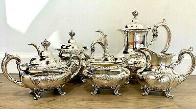 Burgundy By Reed & Barton 5 Piece Sterling Tea Set