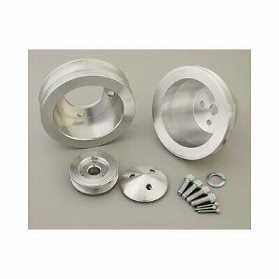 March Performance Pulley Set V-belt Alum. Clear Ford 302/351w/351c Set Of 3 1657