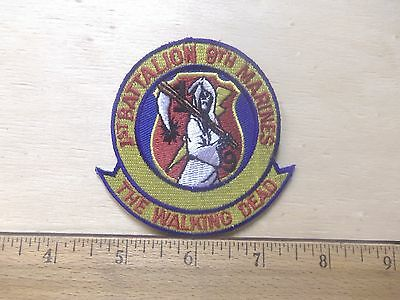 Us Marine Corps - 1st Battalion 9th Marines - The Walking Dead Embroidered Patch