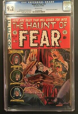 Haunt Fear #15,cgc 9.2 Nm- Near Mint-,off-white Pages,mad #1 Ad,ec Comics,1951