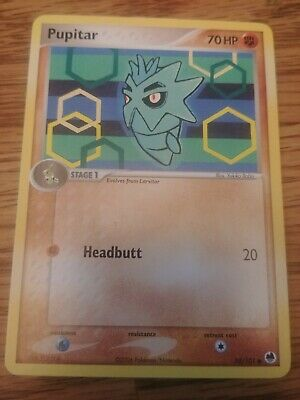 Pokemon Card EX Dragon Frontiers Pupitar Common 58/101 NM