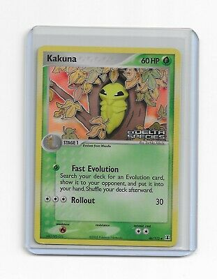 Kakuna Pokemon TCG EX Delta Species Stamped Foil Uncommon Card # 46/113
