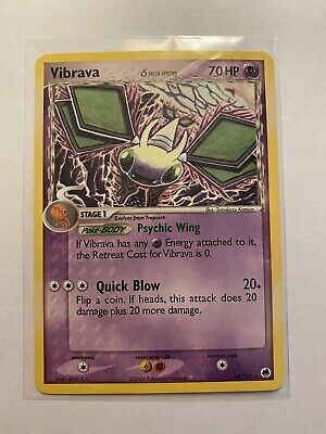 Vibrava Pokemon Card 2006 - 24/101 EX Dragon Frontiers - Rare - Used