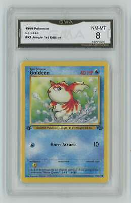 1999 Pokemon Jungle 1st Edition #53 Goldeen GMA 8 Nm-Mt H1