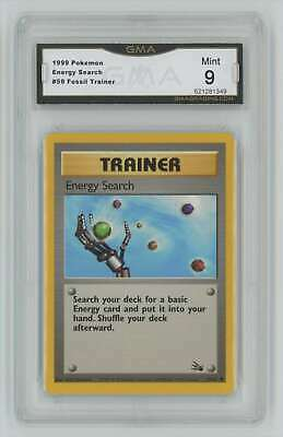 1999 Pokemon Fossil Unlimited #59 Energy Search GMA 9 Mint P22