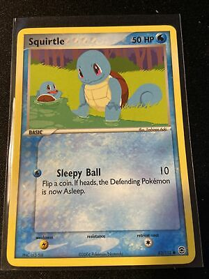 Squirtle - 82/112 - EX Firered & Leafgreen - Pokemon - NM - Common