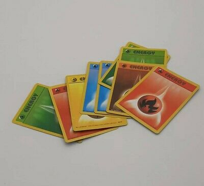 Vintage Pokemon Energy Cards. Base Set. LP Good Condition. + 1 2nd edition Fire