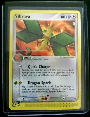 Rare Near Mint Vibrava Pokemon Card 22/97 EX Dragon Set 2003 NM in Sleeve & Case